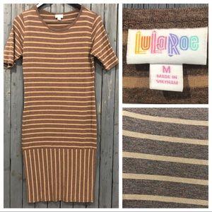 LuLaRoe Striped Tan Dress